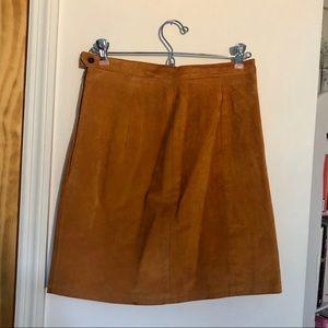 Vintage Camel Leather Skirt